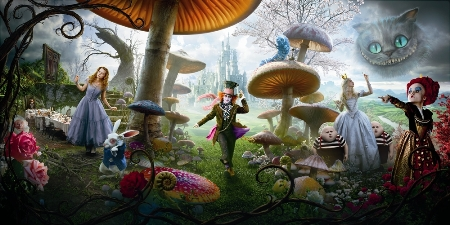 Johnny Depp anchors the cast of Tim Burton's Alice in Wonderland