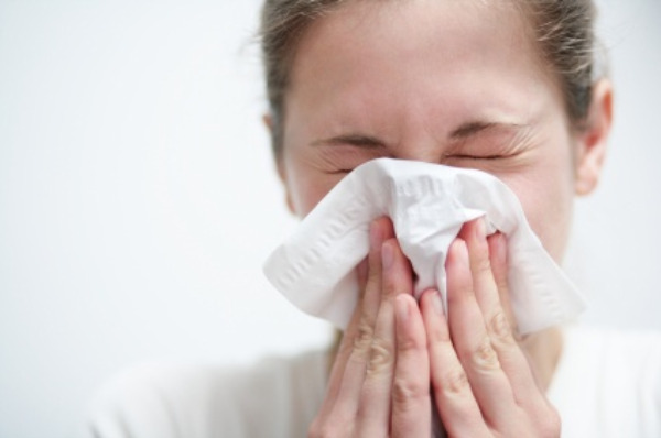 Woman allergy sufferer