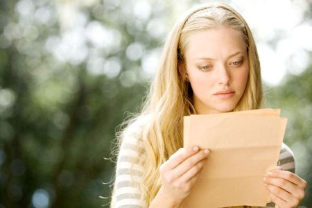 Amanda Seyfried in Dear John, adapted from the Nicholas Sparks book