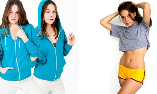Pictured: Unisex Flex Fleece Zip Hoody ($42) and Mesh Running Short