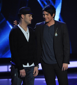 It was close for Mr. Lambert on American Idol