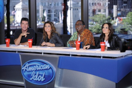 Shania Twain joins the judges before Ellen steps in in Hollywood