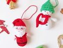 Amigurumi Santa & snowman Christmas ornaments