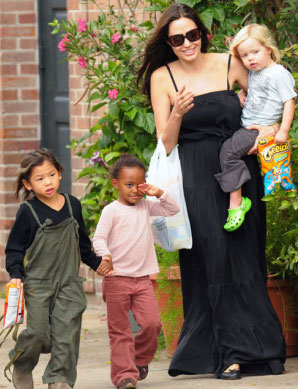 Angelina Jolie and family