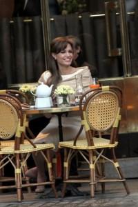 Angelina Jolie on the set of The Tourist