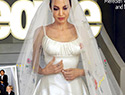 Angelina Jolie's wedding dress was like a refrigerator for her kids' artwork, and it's perfect