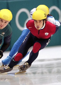 Apolo Ohno at the 2006 Olympics