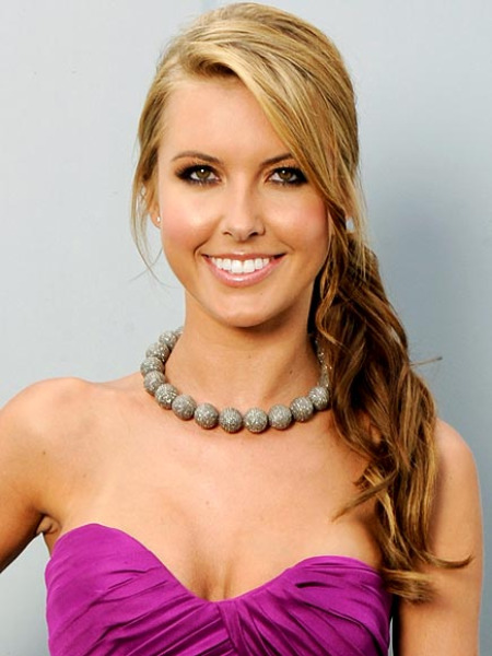 Audrina Patridge - side ponytail