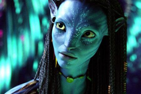 Zoe Saldana in James Cameron's Avatar, also starring Sigourney Weaver