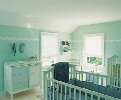 stylish baby room decoration