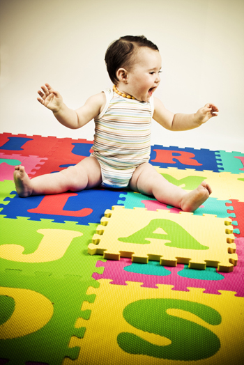 Baby on Alphabet Mat