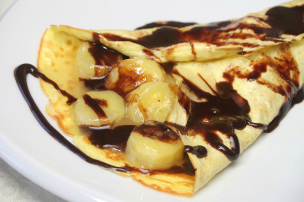 Banana Filled Crepe