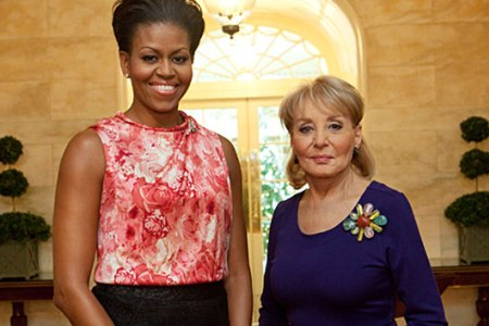 Michelle Obama and Barbara Walters