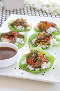 Beef and Veggie Lettuce Wraps