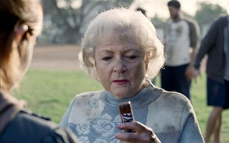 Betty White rocks her Super Bowl commercial for Snickers