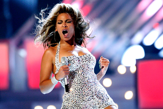 Beyonce joins the performances at the Grammy Awards