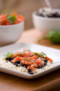 Savory black beans and rice