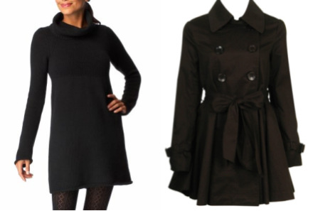 Turtleneck dress - Trench coat