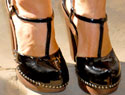 Shoe trends: Black patent leather