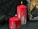 DIY bloody candles make a gory, fun Halloween prop