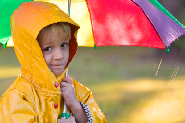 Boy in Raincoat