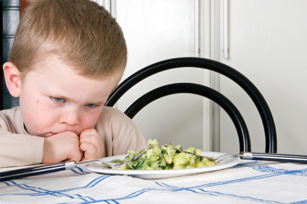 Boy Refusing to Eat