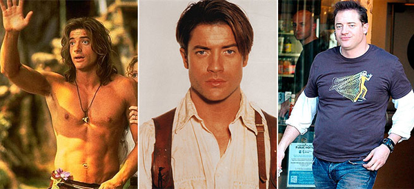 Brendan Fraser, then and now