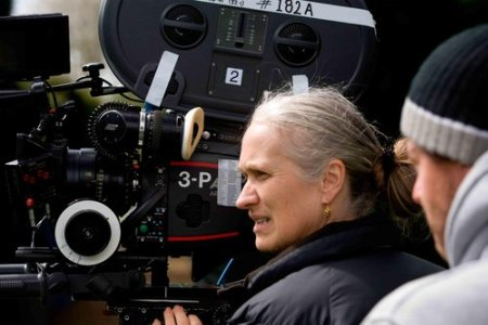 Jane Campion at work on Bright Star