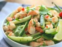 Burmese shrimp and cucumber salad