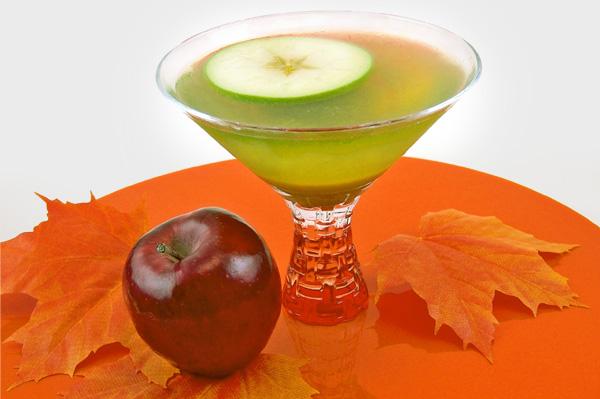 Spiced caramel apple martini