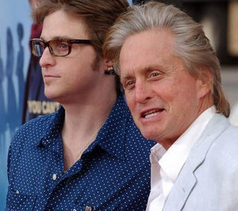 Michael and Cameron Douglas in happier times