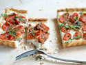 Caprese tart with herbed ricotta and balsamic reduction recipe
