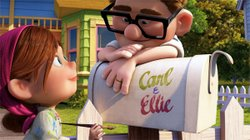 Carl and Ellie paint the mailbox - UP movie
