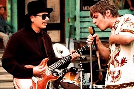 Carlos Santana and Rob Thomas in the Smooth video