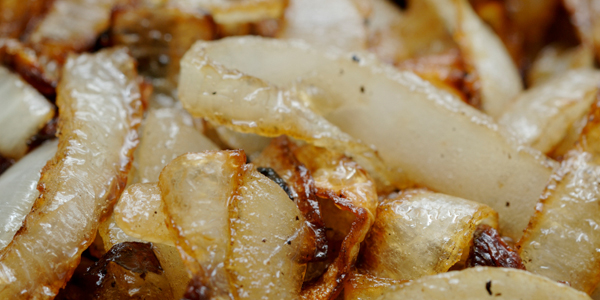 Slow cooked onions are sweet