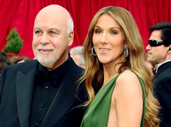 Celine Dion and husband Rene at the Academy Awards