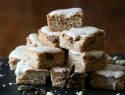 Chai for dessert! Try these blondies with chai cream cheese frosting