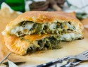 Kale means you can eat this cheesy calzone without feeling guilty