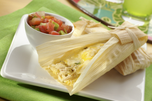 Cheesy Chicken Tamales
