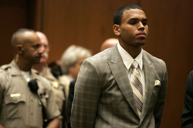 Chris Brown in court where he entered the plea of guilty