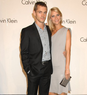 Hugh and Claire at a Calvin Klein event