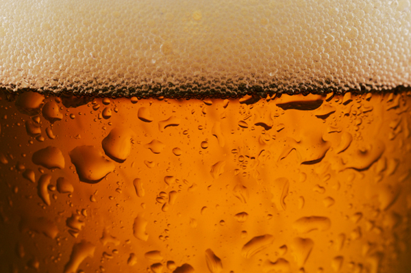 Close up of cold beer