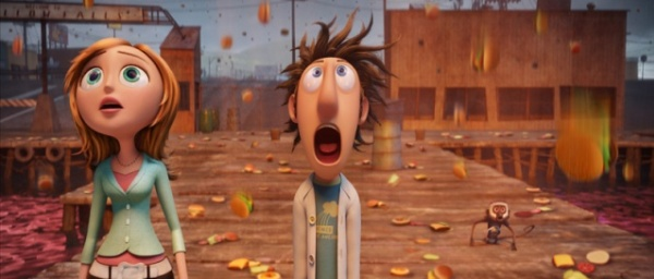 The food is flying in Cloudy with a Chance of Meatballs