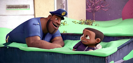 Mr T and Bobbie J Thompson in Cloudy with a Chance of Meatballs
