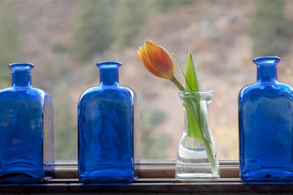 Build a blue-hued kitchen
