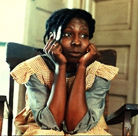 Celie. Grew up as a rape victim of her father's. Given away to a husband who beats her. A mother to her husband's children. Mostly a sister, reminded by Nettie that the world still has love.