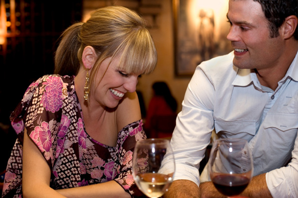 Couple at wine tasting