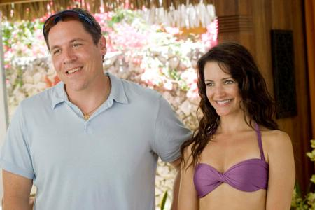 Jon Fabreau and Kristin Davis in Couples Retreat, now on home video