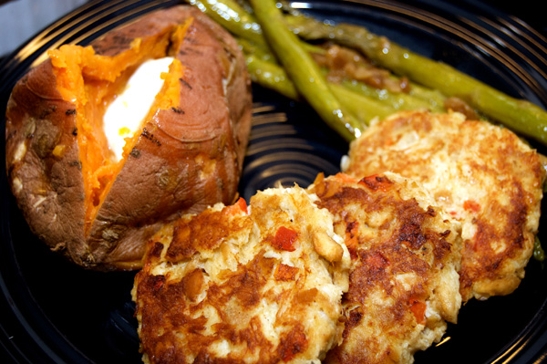Crab Cake with Baked Potato