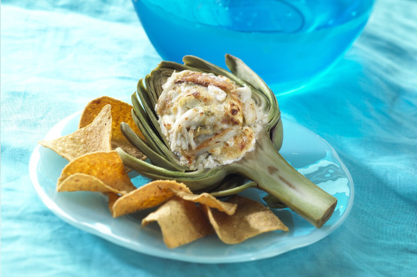Crab with artichoke dip